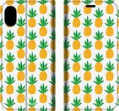 Mobigear Tropical Design Wallet Bookcase Hoesje 6 iPhone Xs Max