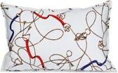 Sierkussen - Layton - Paarden riemen, bitten en kettingen - 40x60 cm - ecru