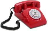 Opis 60's - Retro telefoon - Rood