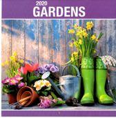 Maandkalender - Tuinen / Gardens - 2020 - 29x31cm - Omlegkalender