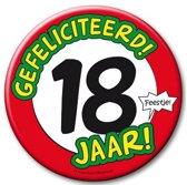 XXL verjaardags button 18 jaar