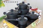 Edënbërg luxe pannenset - 10-delig - zwart