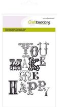 CraftEmotions stempel A6 - achtergrond you make me happy