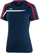 Jako - T-Shirt Performance Dames - marine/wit/rood - Maat 34 - 36
