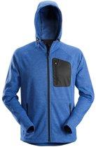 Snickers Flexiwork, Fleece Hoodie Kobalt Blauw/zwart Mt M