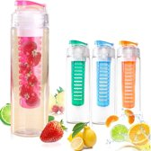 Waterfles met Fruitfilter Infuser 750ML Roze