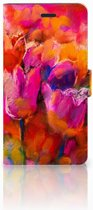 Samsung Galaxy A7 2017 Bookcase hoesje Design Tulips