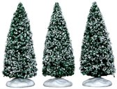 Lemax Snowy Juniper Tree, Small 3 pc