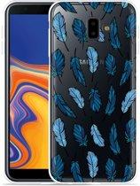 Galaxy J6 Plus Hoesje Feathers