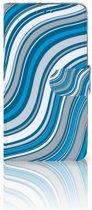 Motorola Moto G5S Plus Boekhoesje Design Waves Blue