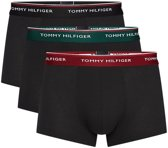 Tommy Hilfiger - Heren 3-Pack Low Rise Trunk Boxershorts Zwart Rood Groen - S