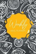 Week Meal Planner: Chalkboard Seafood Cover, 52 Week Meal Planner & Grocery List, Menus Planning Pages Prep Shopping List, Eat Records Jo