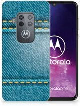 Motorola One Zoom Silicone Back Cover Jeans