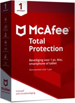 McAfee Total Protection 2018 - 1 Apparaat - Nederlands - Windows / Mac / iOS / Android