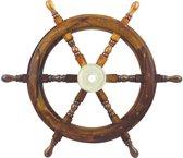 Stuurwiel Hout - Decoratief & Echt gebruik - Stuurwiel Boot - Diameter 60 cm