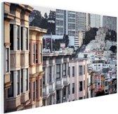 Details gebouwen San Francisco Glas 30x20 cm - Foto print op Glas (Plexiglas wanddecoratie)