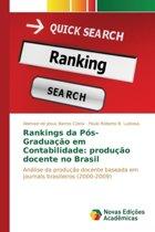 Rankings Da Pos-Graduacao Em Contabilidade