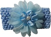 Jessidress Baby Haarband Meisjes Hoofdband Grote Haarbloemen Accessoires - Blauw
