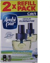 Ambi Pur Fresh & Light Auto Luchtverfrisser Navulling 2 x 8 ml