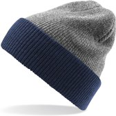 Senvi Reversible Beanie Grijs Melee/Blauw (One size fits all)
