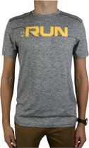 Under Armour Run Front Graphic SS Tee 1316844-952, Mannen, Grijs, T-shirt maat: M EU