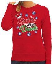 Foute kersttrui / sweater Santa is a little drunk rood voor dames - kerstkleding / christmas outfit XL (42)
