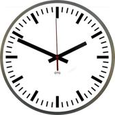 GTG Streep - Klok - Rond - RVS - Ø30 cm - Wit