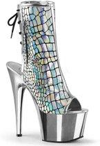 EU 40 = US 10 | ADORE-1018HG | 7 Heel, 2 3/4 PF Open Toe/Heel Ankle Boot, Side Zip