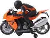 Toi-toys Motor Met Licht En Geluid Oranje/zwart 27 Cm
