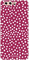 FOONCASE Huawei P10 hoesje TPU Soft Case - Back Cover - POLKA COLLECTION / Stipjes / Stippen / Rood