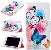 Apple Iphone 7 / 8 Bookcase hoesje bloemen/vlinders