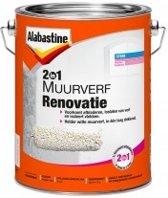 Alabastine 2In1 Synthetische Renovatieverf -Wit- 5L
