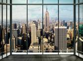New York Window - Fotobehang - 232 x 315 cm - Multi