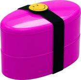 Zak!Designs Smiley Lunchbox - Incl. bestekset - Raspberry