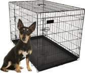 Hondenbench Diesel - zwart - M - 77 x 47 x 55 cm