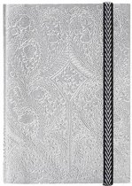 Paseo silver embossed notebook a5
