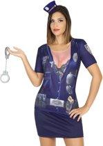 Politie verkleed shirt voor dames XS/S (34-36)