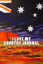 I Love My Country Journal