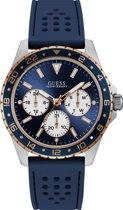 Guess W1108G4 horloge Zilverkleurig Siliconen 44 mm