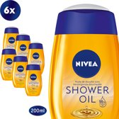 NIVEA Natural Oil - 6 x 200 ml - Voordeelverpakking - Doucheolie