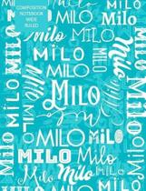 Milo Composition Notebook Wide Ruled