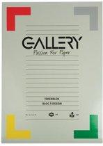 Gallery tekenblok extra zwaar houtvrij papier 190 g/m² formaat 297 x 42 cm (A3) blok van 20 vel