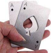 2 Stuks Stevige Bieropener In Kaartvorm - Flesopener - Opener - Poker