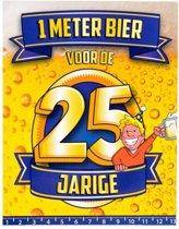 Paperdreams - 1 Meter bier kaart - 25 Jaar