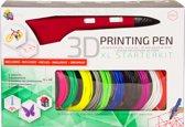 3Dandprint 3D Pen Starterspakket Rood Inclusief 50
