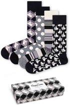 Happy Socks Black & White Giftbox - Maat 41-46
