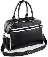 Bagbase Original retro bowling bag, Kleur Black/ White