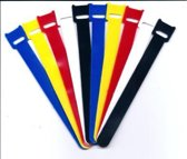 Klittenband Kabelbinders 20 stuks Kleurenmix