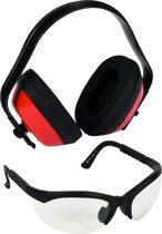 Gehoorbeschermer en veiligheidsbril - Set LEP101-56 / LSG2625-56