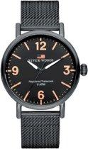 River Woods RW420035 Delaware horloge Heren - Zwart - RVS 42 mm